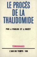 book cover: le procès de la thalidomide