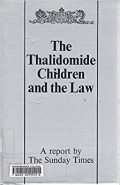 book cover: thalidomide children and the law