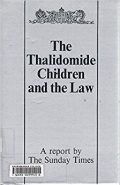 couverture de livre: thalidomide children and the law