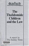 couverture de livre: thalidomide children and the law